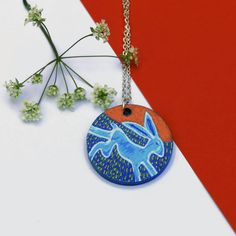 My own hand painted hare necklace on wood - available through my Etsy shop of Larryware:  https://www.etsy.com/shop/Larryware  Running Hare Necklace, Gift For Her, Pagan Jewellery, Handmade Jewelry, Hand Painted Pendant, Wearable Art, Wood Jewelry, Gift Ideas