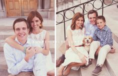 sitting on steps, couple poses Emily and Kyle's Engagement  Formal Family Photos Cleveland, Ohio © audrey tyler jones