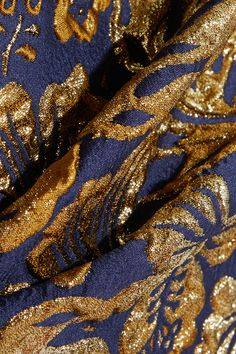 Prada - Metallic Floral-jacquard Pencil Skirt - Navy - IT46