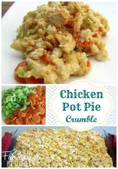 This recipe includes all of the deliciousness of homemade, from-scratch Chicken Pot Pie, but without the fuss of a crust. There is no Cream of Anything soup in there either. Definitely a family favorite!