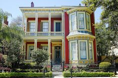 """The """"White House"""", 1312 1st Street. The Garden District. New Orleans, Louisiana."""