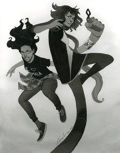 kevin wada illustration: Kamala and Melissa ECCC 2015 commission