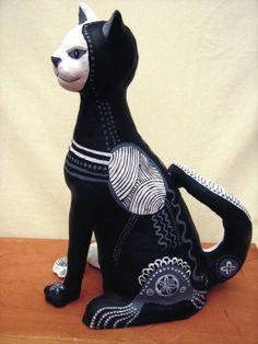 gatos de papel mache