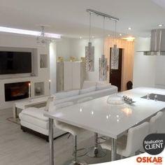 Interior Design Kitchen, Kitchen Decor, Kitchen And Bath, Open Plan Kitchen Dining Living, Design Salon, Cuisines Design, Home Remodeling, Kitchen Remodel, Sweet Home