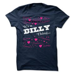 [Hot tshirt name font] Its a Billy thing Limited Edition Shirts of month Hoodies Tee Shirts