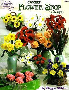 CROCHET - American School of Needlework - Maggie Weldon - Crochet Flower Shop - Maria M Castells - Álbumes web de Picasa