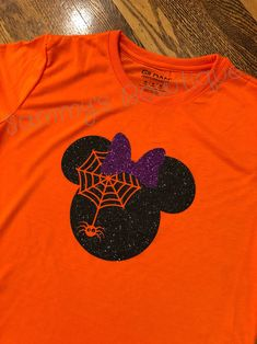 Excited to share the latest addition to my shop: Minnie Mouse Halloween womens T-shirt! Womens, Disney shirt, Glitter, Family Disney Shirts, Mickey's not so scary Halloween party shirt. Minnie Mouse Halloween, Disney Halloween, Scary Halloween, Halloween Party, Women Halloween, Vinyl Shirts, Custom Shirts, Textiles, Disney Shirts For Family