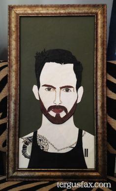 Custom leather portrait of Adam Levine tergusfax.com
