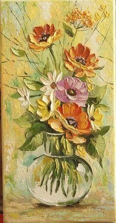 Easy Canvas Art, Mini Canvas Art, Texture Art, Texture Painting, Sculpture Painting, Knife Painting, Acrylic Painting Flowers, Painting Techniques, Art Pictures