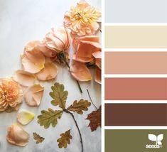 New Ideas Bathroom Paint Colors Cream Design Seeds Design Seeds, Colour Pallette, Color Palate, Color Combos, Autumn Color Palette, Peach Pallete, Blue Peach, Peach Colors, Colours