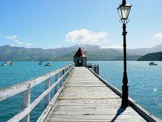 Dalys Wharf Akaroa - New Zealand Nz South Island, New Zealand South Island, Akaroa New Zealand, Places To See, Places Ive Been, Down South, Kiwi, Banks, Cloud