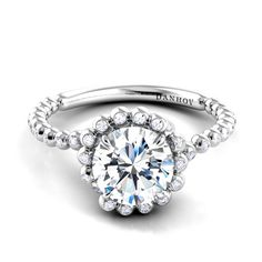 Danhov Diamond Engagement Ring from the Abbraccio Collection Style# AE108.  my absolute favorite. This should be mine ;) absolutely in love.