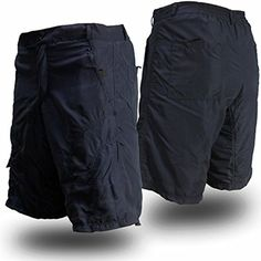 Casual Cargo Cycling Shorts with padded undershorts, secure pockets, and dry-fast wicking (X-Large, Navy Blue)