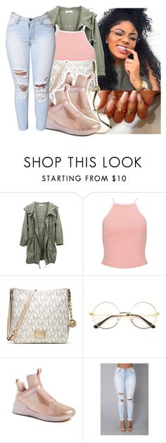 """"""""""" by eazybreezy305 ❤ liked on Polyvore featuring Miss Selfridge, MICHAEL Michael Kors, Puma, cute, simpleoutfit, Trendy and 2016"""