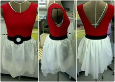 Pokemon Dress DIY. Only the back would be higher. I'm stealing this concept!! SOOO GOOD!