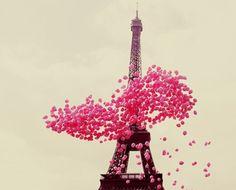 Eiffel Tower, Valentine's Day.