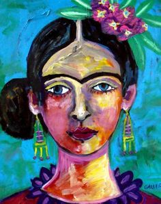 Storewide- Frida Kahlo Art Poster Print of painting by Heather Galler Art of…