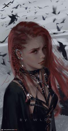 by wlop on DeviantArt Fantasy Women, Dark Fantasy Art, Fantasy Girl, Fantasy Artwork, Anime Art Fantasy, Fantasy Character Design, Character Inspiration, Character Art, Character Concept