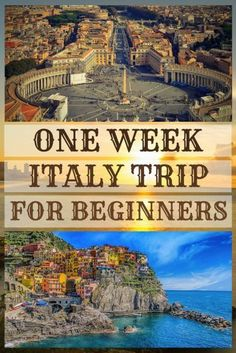 One week Italy itinerary for beginners Italy Travel Tips, Travel Destinations, Travel Europe, Backpacking Europe, Travel Abroad, Budget Travel, Italy Holidays, Italy Vacation, Italy Trip