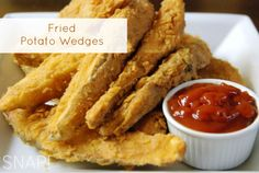 Potato wedges recipe. Baked or fried, way better than french fries. True comfort food.