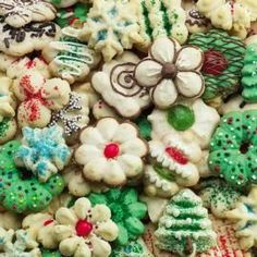 Old-Fashion Holiday Spritz Cookies.