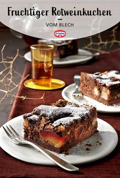Delicious Desserts, Dessert Recipes, Prune, New Cake, Brownie Bar, Sweet Recipes, French Toast, Pasta, Sweets