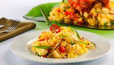Receita de Salada Thai de Arroz e Frango - Salada