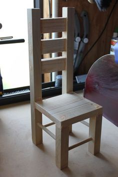 """MADE: Pieces For Reese: 18"""" Doll: Dining or Desk Chair"""