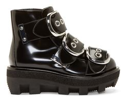 Alexander Wang Black Patent Leather Sloane Boots