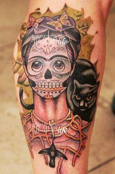 Frida Kahlo seen by Nathaniel Gann, Remington Tattoo Parlor, San Diego ...