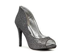 Caparros Neo Platform Pump fabric silver glitter 4h sz7.5 59.95