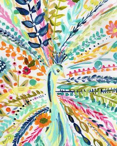 Boho Peacock Art Print is part of Canvas crafts Boho Add a pop of color and joy to your decor with a whimsical boho limited edition print Personally signed by Bari J Printed on luxe heavy weight - Art Inspo, Kunst Inspo, Painting Inspiration, Art Diy, Ouvrages D'art, Simple Art, Art Design, Art Lessons, Painting & Drawing