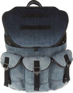 7629db6232 DIESEL De-breaking denim backpack