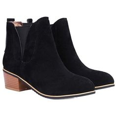Concise Chunky Heel and Suede Design Ankle Boots For Women (125 BRL) ❤ liked on Polyvore featuring shoes, boots, ankle booties, thick heel boots, ankle boots, suede bootie, thick heel booties and chunky heel ankle boots