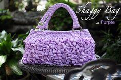 Loop stitch Purple Shaggy Bag