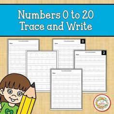 Numbers 0-20 Trace and Write by Sweetie's | Teachers Pay Teachers School Reviews, Learn To Count, Counting Activities, Teacher Organization, Writing Practice, Elementary Math, Learning Resources, Math Lessons, Teaching Math