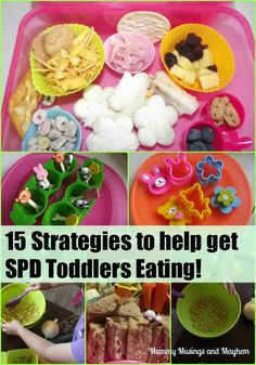 15 strategies to help toddlers with sensory processing disorder and food aversions to try new food! Tips from a parent who has been there! Just in case our kids are as picky as I am! Sensory Diet, Sensory Issues, Autism Sensory, Sensory Activities, Sensory Play, Oral Motor Activities, Autism Activities, Autism Resources, Family Activities