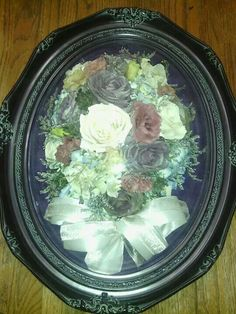 Preserved Wedding Bouquet in a Victorian frame from Lasting Memories Floral Preservation  248.375.7755 www.LMFP. net