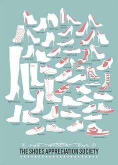 great poster by brazilian designer Niege Borges Alves #shoes