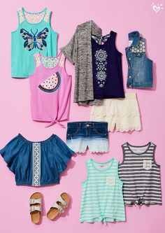 Crochet all day! spring break 2017 at justice in 2019 мода д Tween Boy Outfits, Cute Outfits For School, Cute Girl Outfits, Cute Summer Outfits, Cool Outfits, Girls Fashion Clothes, Teen Fashion Outfits, Tween Fashion, Justice Girls Clothes