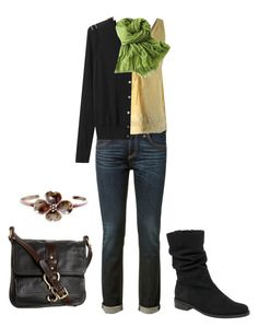 """""""Outfit No.21 Capsule Wardrobe"""" by paper-dolls-and-play-houses ❤ liked on Polyvore featuring rag & bone, Gabor, Cole Haan, J.Crew and Banana Republic"""
