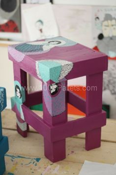 stool bab1 533x800 Little Rocks   upcycling projects  in pallet furniture  with Table Pallets Furnitures Art