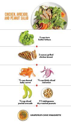 How To Make A Chicken, Avocado, and Peanut Salad | CookingLight.com