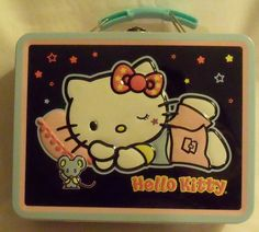 Hello Kitty Tin Box Brand Lunch Box Sanrio NEW 2007 Hol99