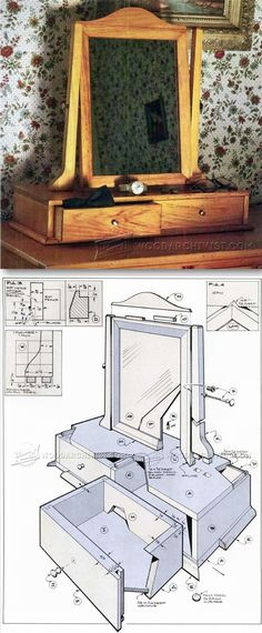 Shaker Vanity Mirror Plans - Furniture Plans and Projects ...