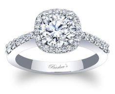 Barkev's Halo Engagement Ring - 7986LW