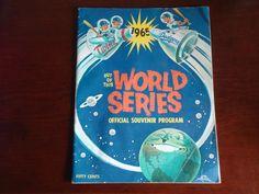 1965 WORLD SERIES PROGRAM AND SCORECARD LOS ANGELES DODGERS MINNESOTA TWINS