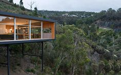 If legendary modernist architect Ludwig Mies Van Der Rohe ever had his body reanimated and moved into a roadside home near the city of Hobart, Tasmania, it would probably be the Highway House. Designed by architecture firm Room11, the single story home boasts a modest rectangular frame that appears gently hung from the clouds as …