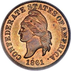 Civil War coins offer intriguing North and South subplots. Put in context of America's worst war, the story of Confederate coins, US coins, Civil War tokens, and other Civil War money is illustrated. Confederate States Of America, Confederate Flag, American Civil War, American History, Captain American, American Coins, Southern Heritage, Old Coins, Rare Coins