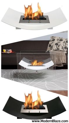 This free-standing fireplace can be placed as an insert in your fireplace, as a center piece combined with the glass set, or enjoyed around a swimming pool. Use it in the winter as a heater and in the summer time by the pool or on the veranda to bring a captivating style to your outdoor decor.